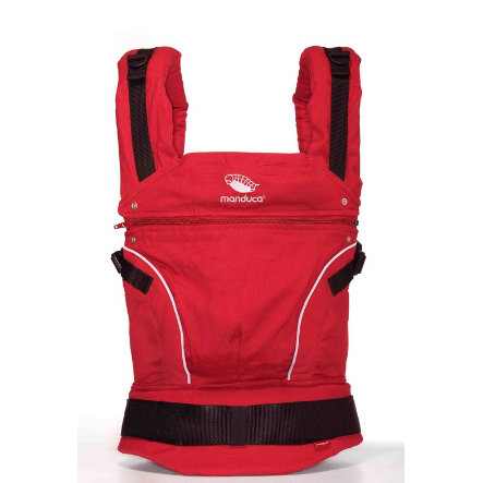 MANDUCA Baby Carrier PureCotton Chili Red - The carrier that grows with your child!