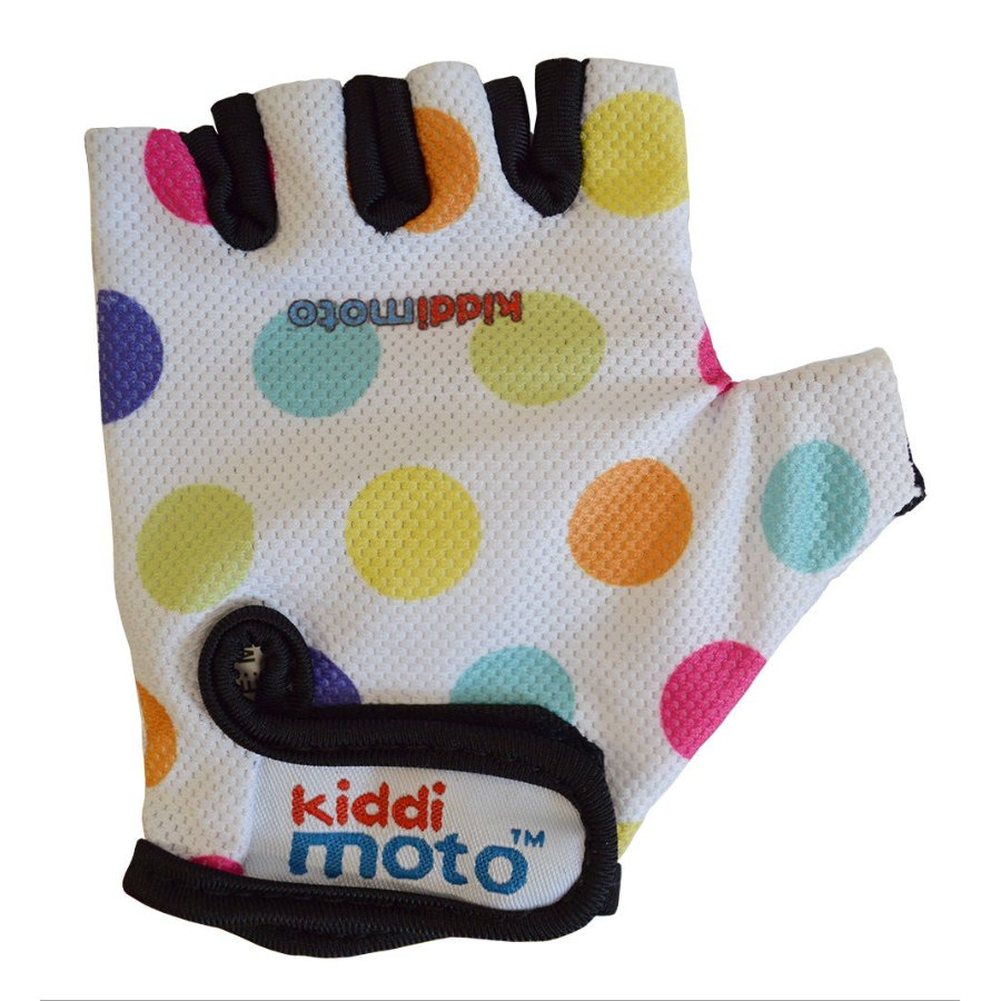 kiddimoto® Gants Design Sport, Pois multicolores, T. M
