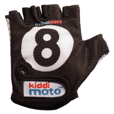kiddimoto® Rukavice Design Sport, Eight Ball/billardová koule - M