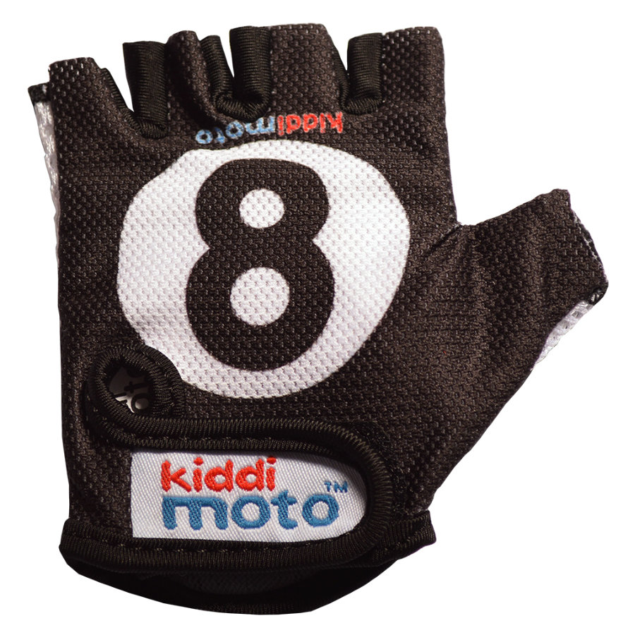 kiddimoto® Handschuhe Design Sport, Eight Ball/Billardkugel - M