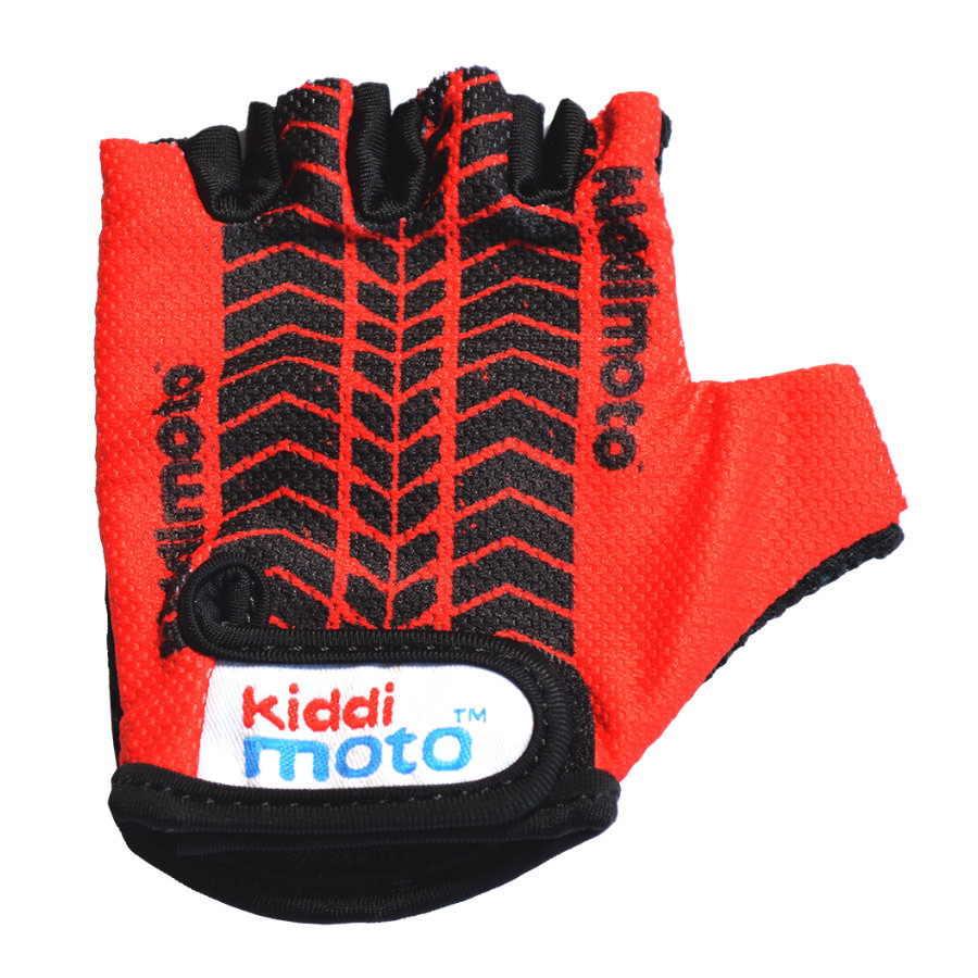 kiddimoto® Handschuhe Design Sport, Red Tyre/StreetFighter - M