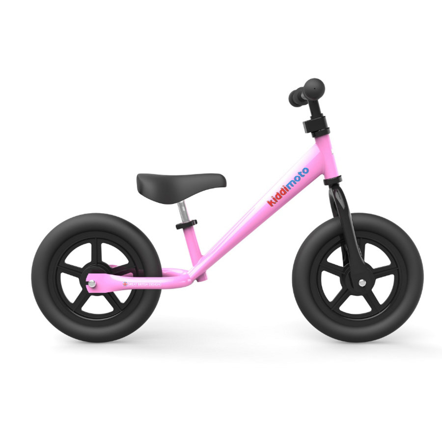 kiddimoto® Metall Laufrad Super Junior - Pretty Pink