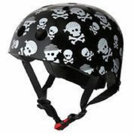 kiddimoto® Casque de vélo enfant Skullz T. M