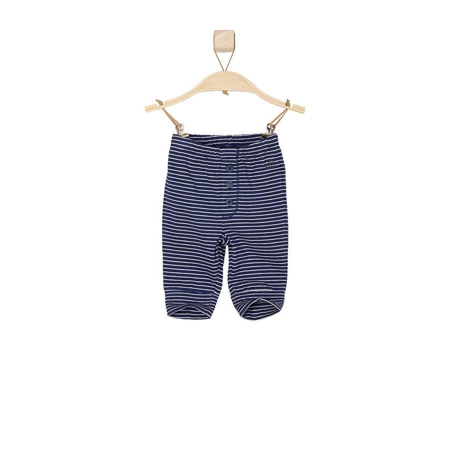 s.OLIVER Boys Pantalon de bébé à rayures bleu foncé