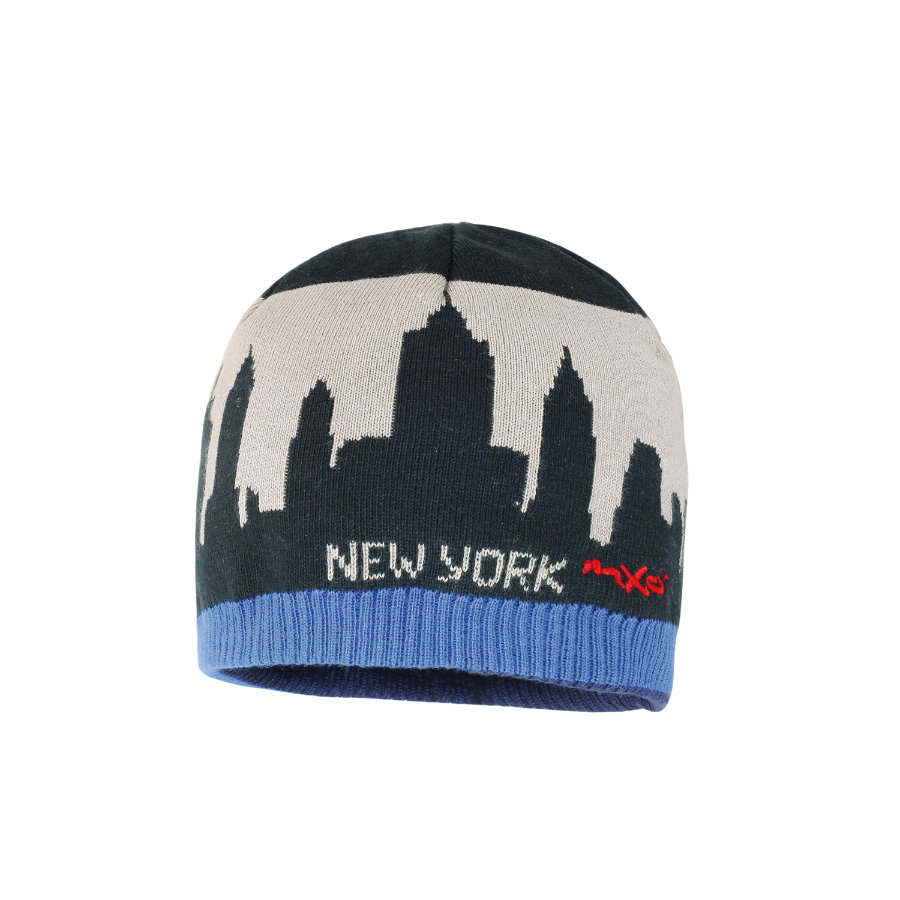 MaxiMo Boys Kids Mütze NEW YORK SKYLINE tinte enzian