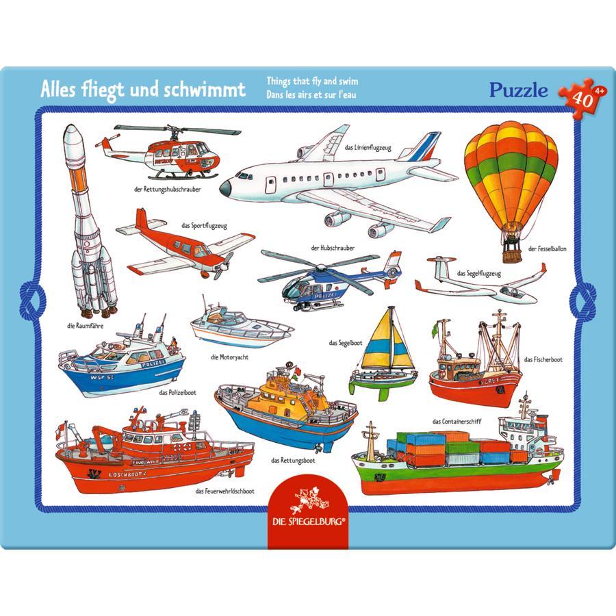 COPPENRATH Puzzle v rámu - všechno létá a plave (40 dílů)
