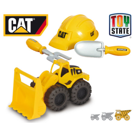 HAPPY PEOPLE CAT Set de sable Construction Crew - Chargeuse sur roues
