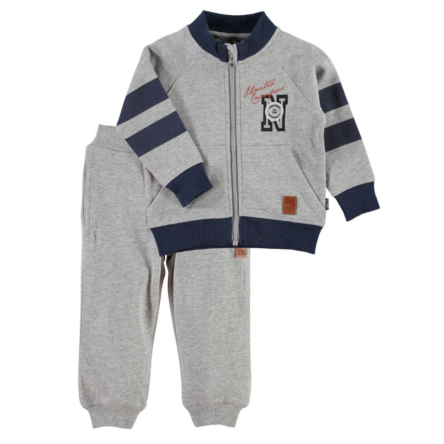 NAME IT Boys Mini Sweat-Set NITKEENAN grey melange