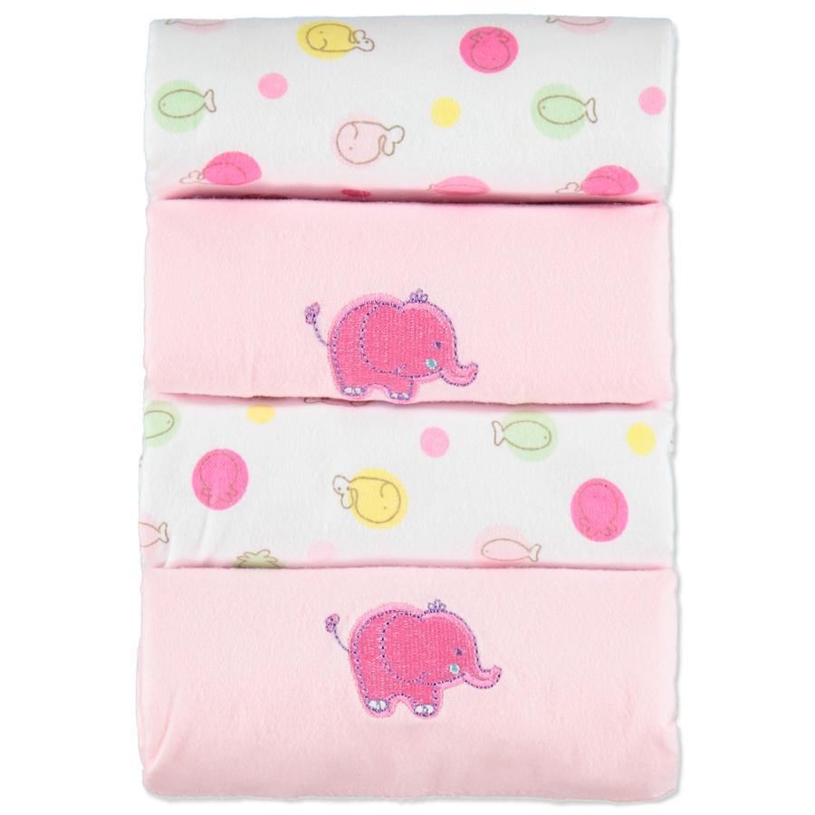 pink or blue  Escupideras de franela 4 paquetes de rosa