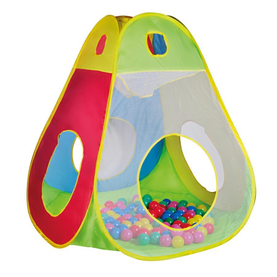 zabawki knorr® grają w namiot Brody wraz z 100 kulkami Ø6 cm