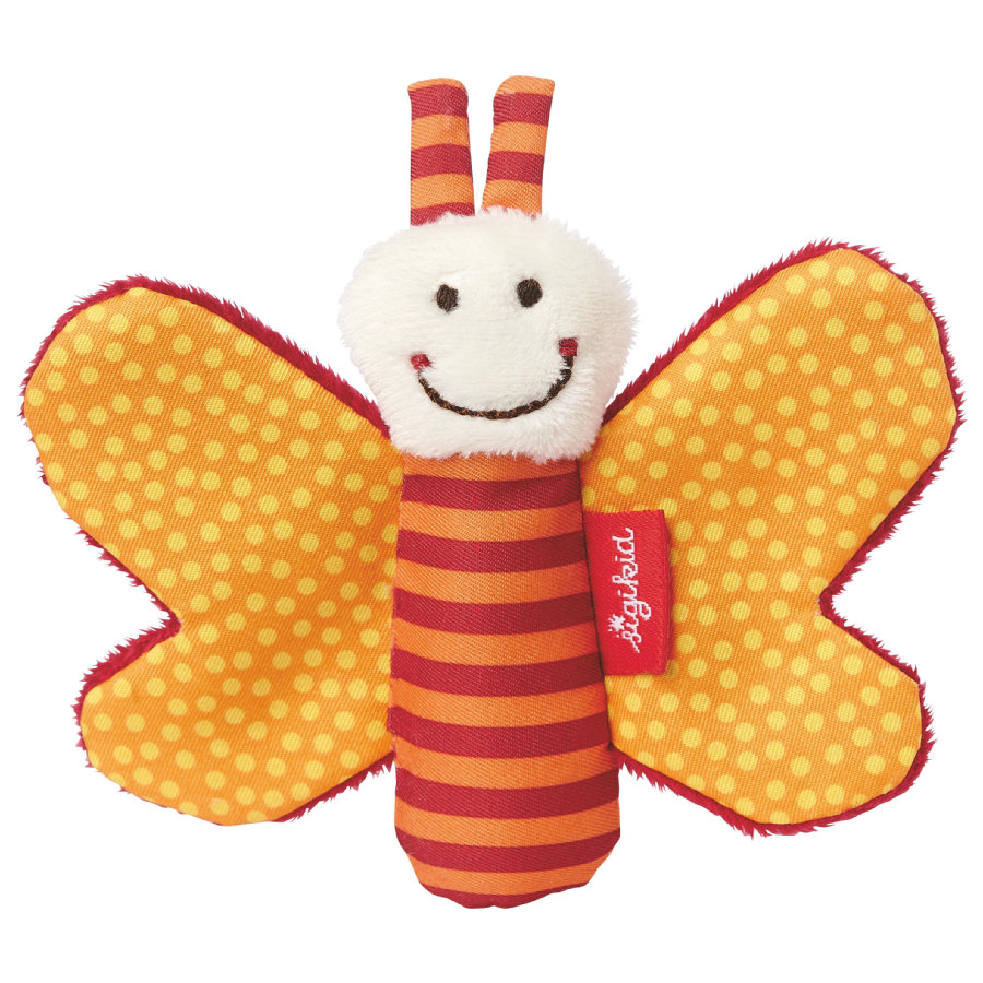 SIGIKID Hochet de préhension Papillon qui grésille, orange