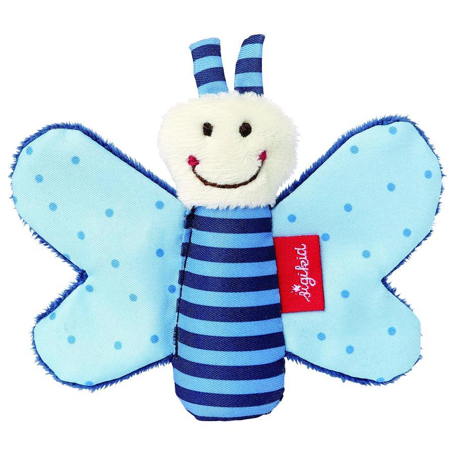 SIGIKID Hochet de préhension Papillon qui grésille, bleu