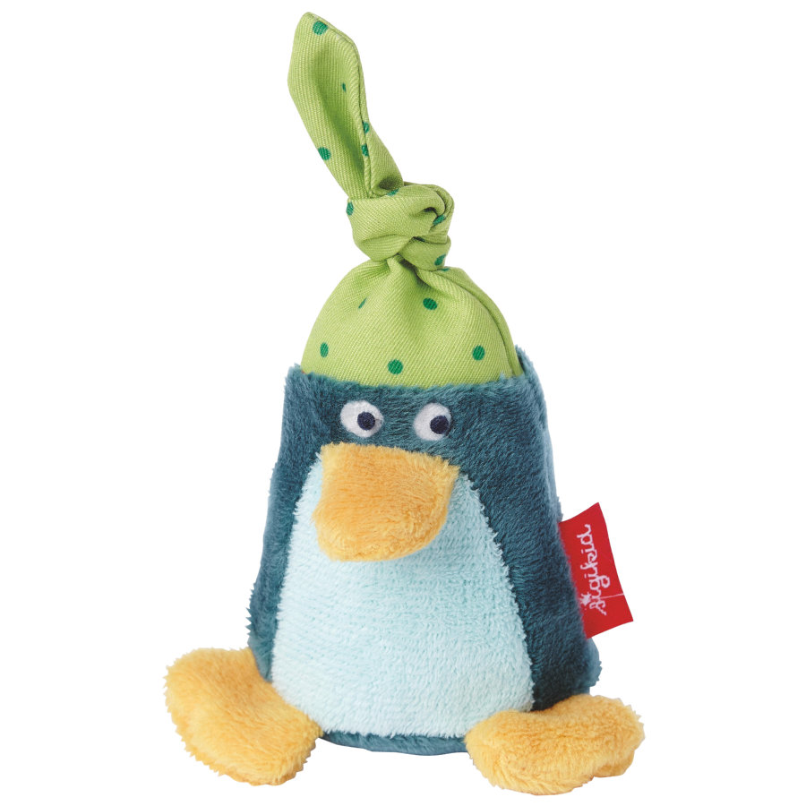 sigikid® Rassel Pinguin blau Red Stars Collection