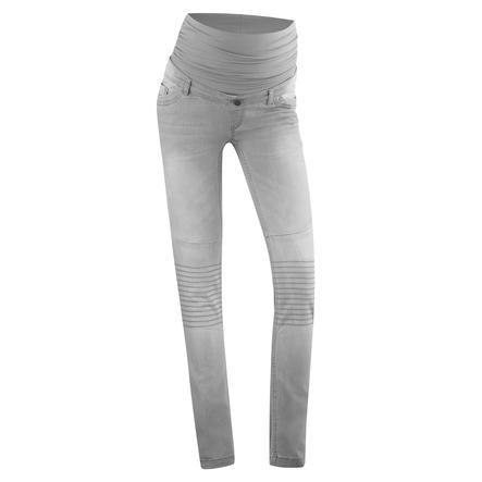 BELLYBUTTON Zwangerschaps Jeans MAYA Slim Biker grey denim