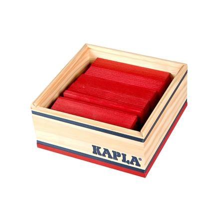 KAPLA Rakennuspalikat, 40 kpl, punainen