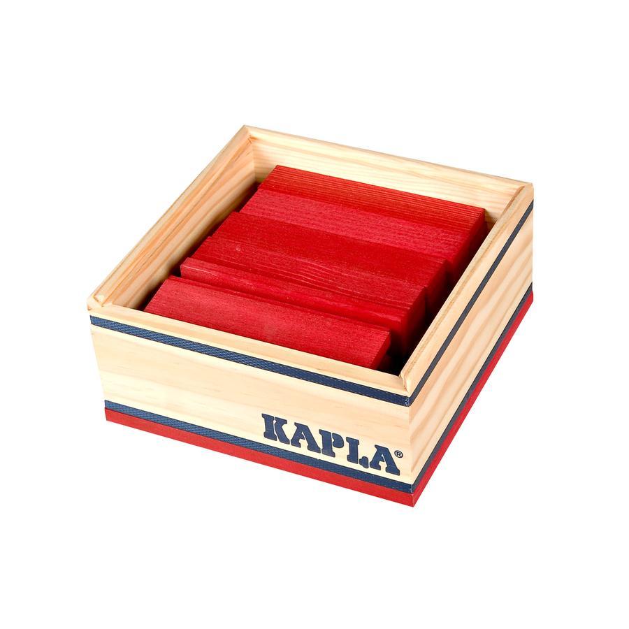 KAPLA Bouwstenen 40 stuks in kist rood