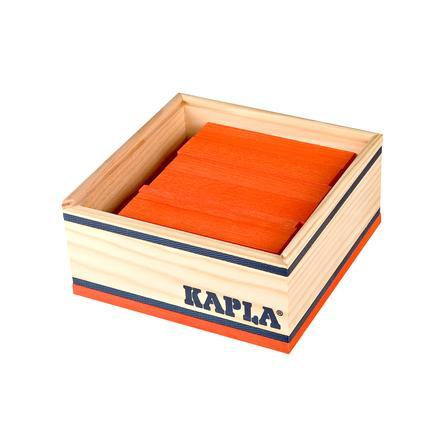 KAPLA Bouwstenen 40 stuks in kist oranje