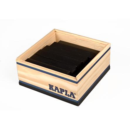 KAPLA Bouwstenen 40 stuks in kist zwart
