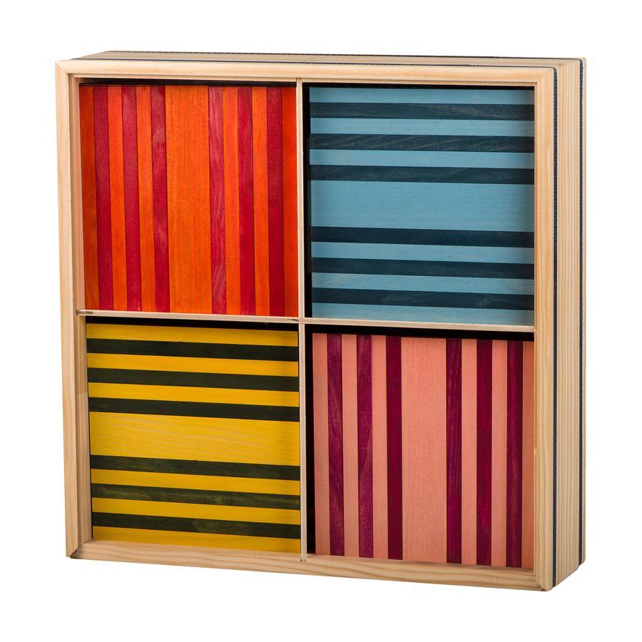 KAPLA Jeu de briques enfant Octocolor bois, 100 pièces