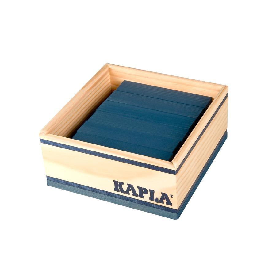 KAPLA Bouwstenen 40 stuks in kist donkerblauw