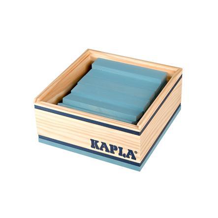 KAPLA Bouwstenen 40 stuks in kist blauw