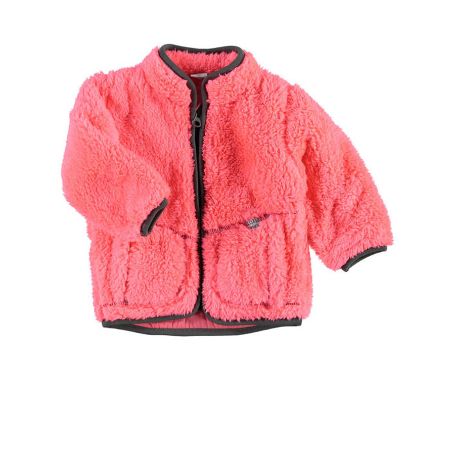 NAME IT Girls Baby Plüschjacke NITTEDDY neon coral