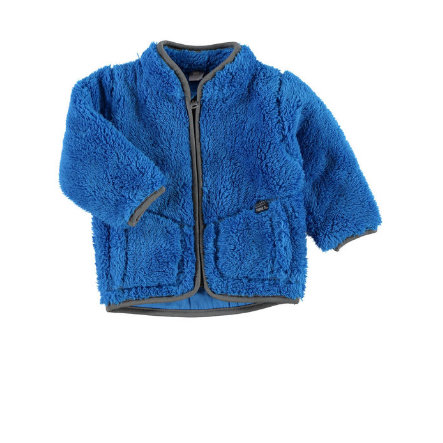 NAME IT Boys Veste en peluche bébé NITTEDDY, bleu brillant