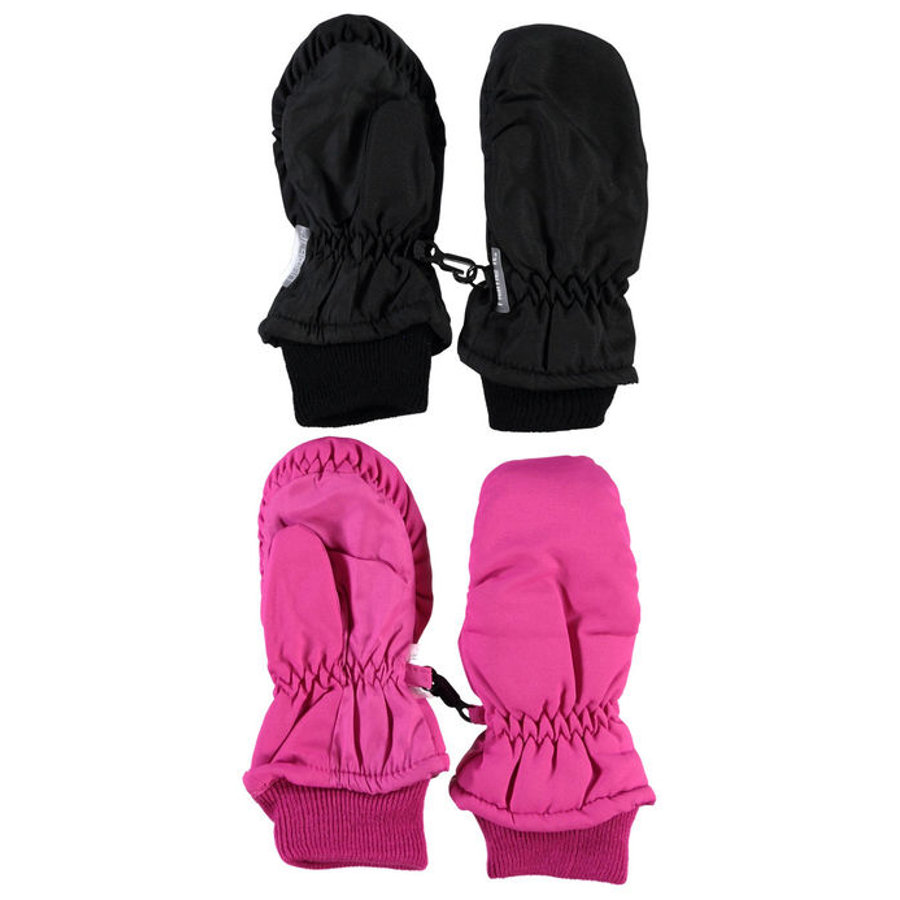 NAME IT Girls Mini 2er-Pack Fäustlinge NITMERIT beetroot purple