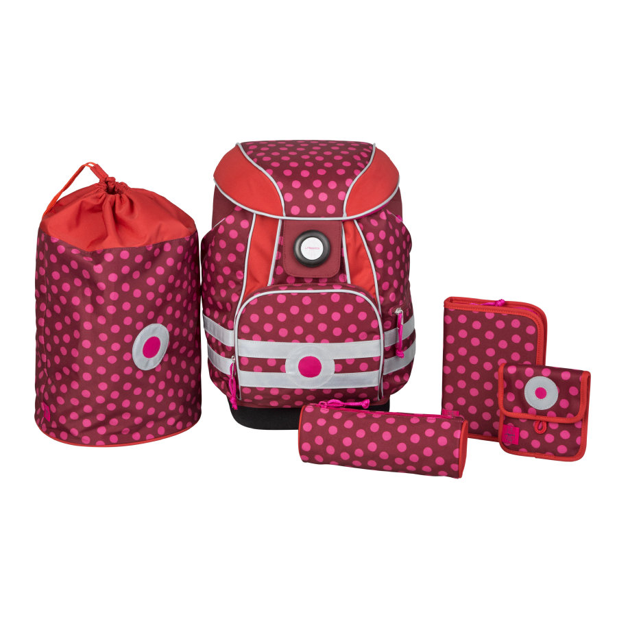 Lässig School Set Dottie red