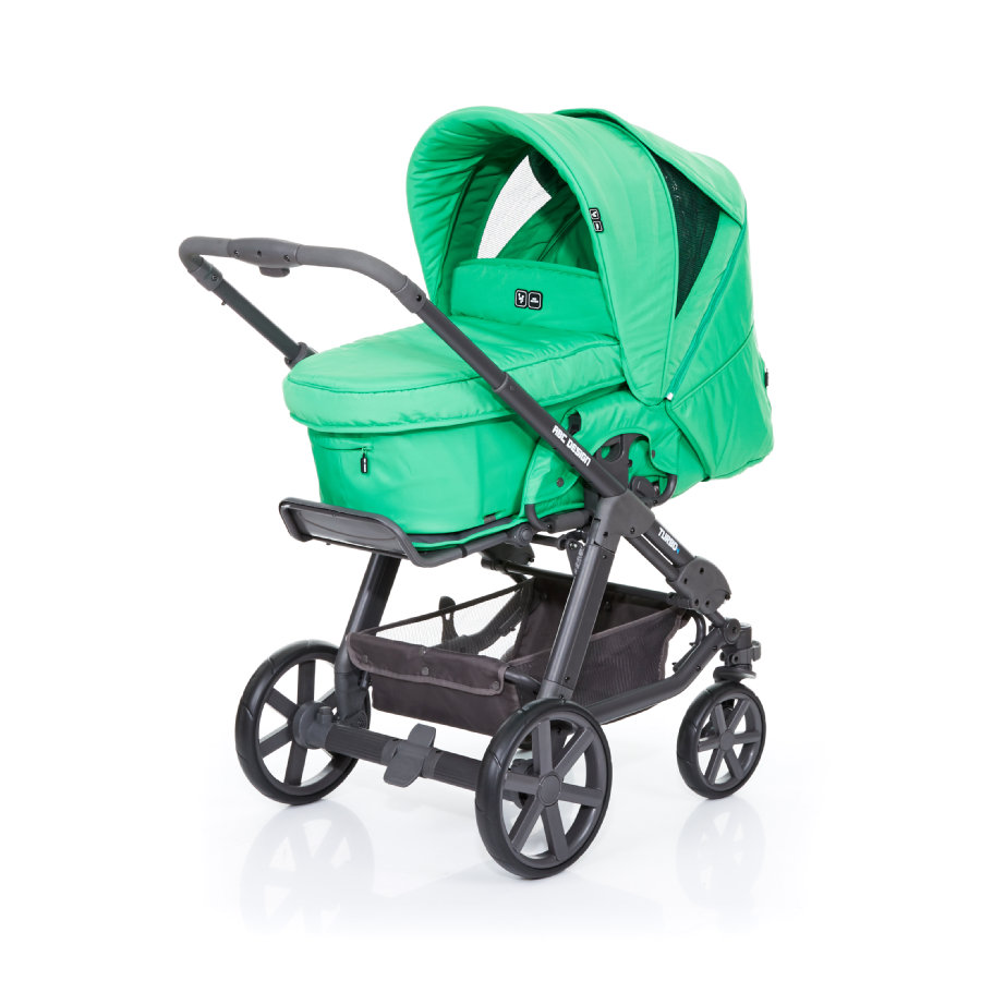 ABC DESIGN Combikinderwagen Turbo 4 Fashion incl. reiswieg grass