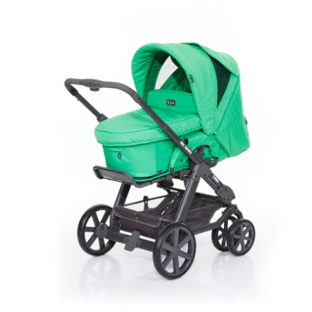 ABC DESIGN Combikinderwagen Turbo 6 Fashion incl. reiswieg grass