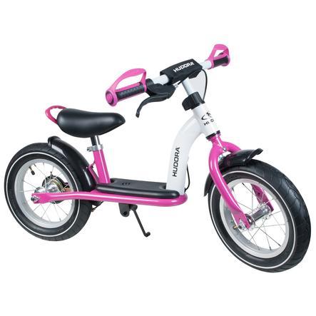 """HUDORA Gå-cykel Cruiser Girl, 12"""" aluminium, hvid/pink 10089"""