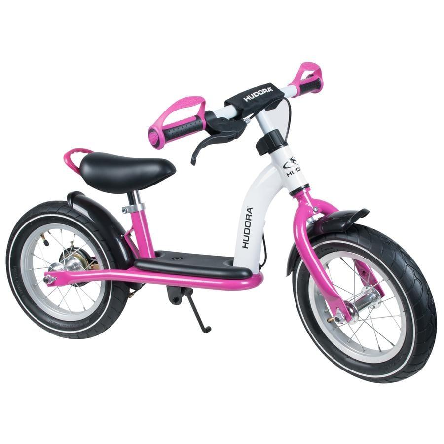 """HUDORA Potkupyörä Cruiser Girl 12"""" alumiini, valkoinen/pinkki"""