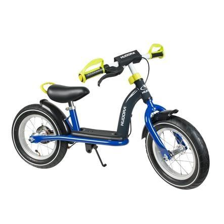 """HUDORA bicicletta, Cruiser ragazzo, 12"""" alluminio blu/limone 10088"""
