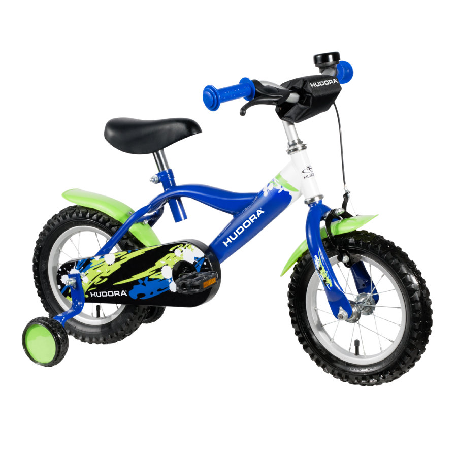 "HUDORA Bicicletta bambini, 12"" blu/verde"
