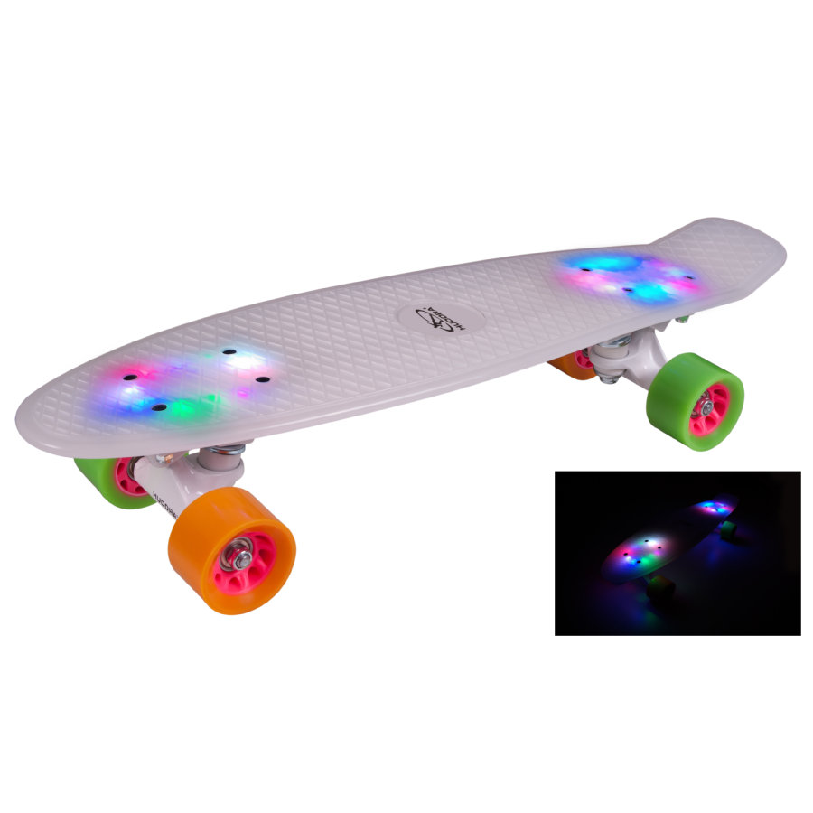 HUDORA Skateboard Retro Rainglow 12134