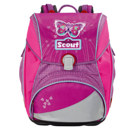 SCOUT Aktovka Basic Alpha - Purple Butterfly