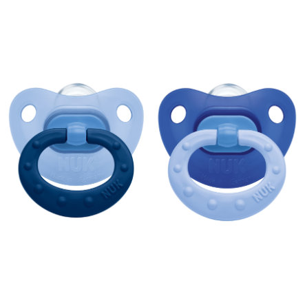 NUK Sucette Fashion, silicone, T. 3, 18-36 mois, bleu, 2 pièces