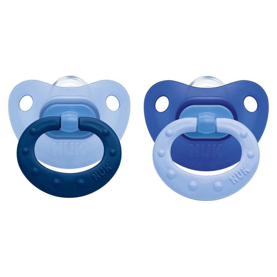 NUK Succhietto calmante Fashion in silicone Misura 3 blu 2 pezzi 18-36 mesi