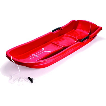 STIGA SPORTS Luge Snow Pacer DUO, à freins, rouge