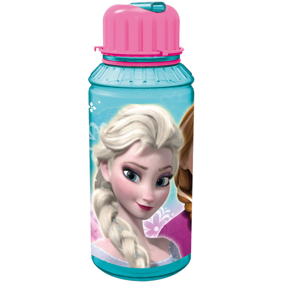 P:OS Flaska med integrerat sugrör 550ml - Disney Frozen