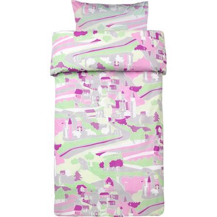 KIDS CONCEPT Pościel do łóżeczka Fairy, kolor różowy