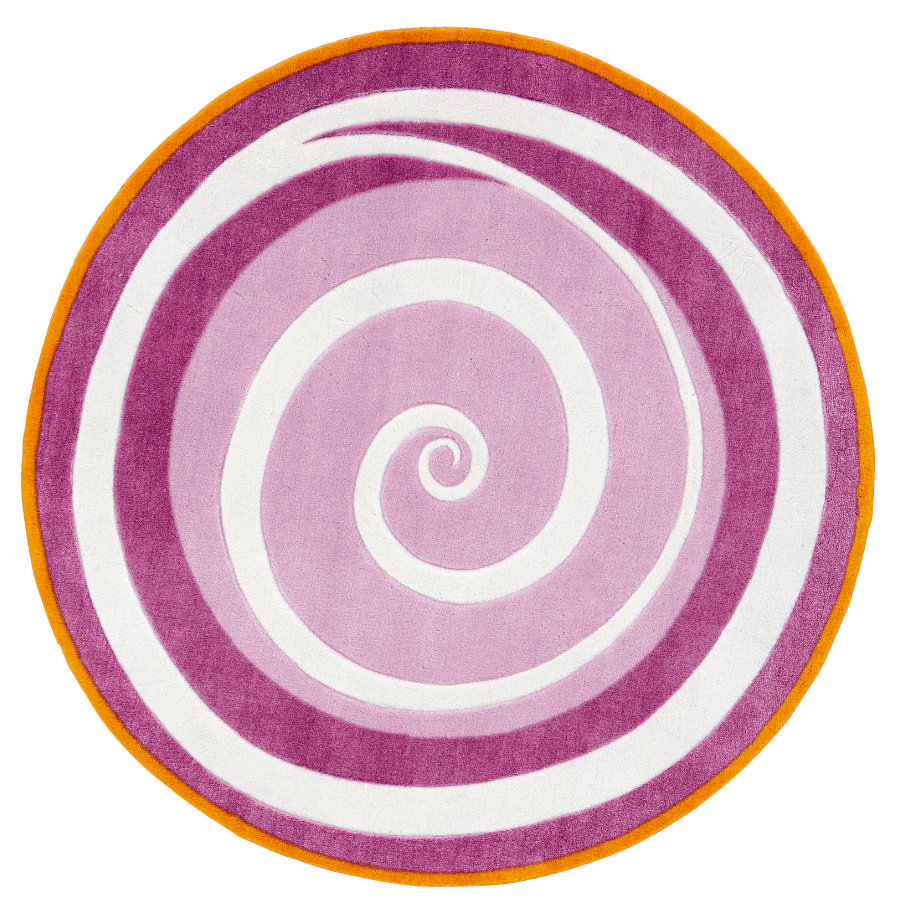 KIDS CONCEPT Tapis Tourbillon Fairy, rose/lilas