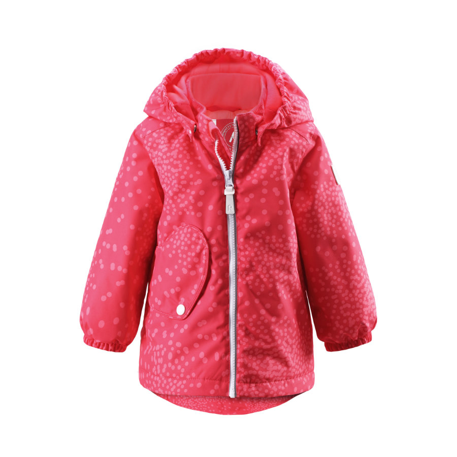 REIMA Girls Mini Kurtka Sleet flamingo red