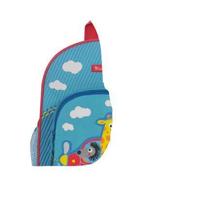 KIDZROOM Vroom - Rucksack blau mit Flieger