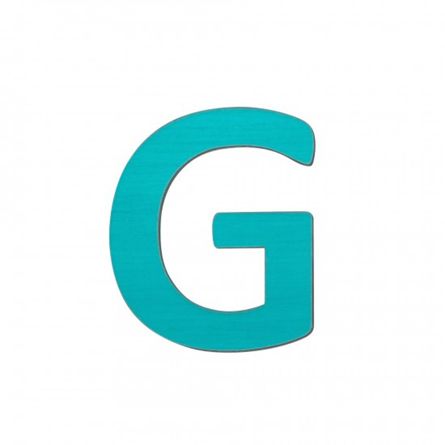 SEBRA Lettre enfant G, bois turquoise