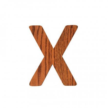 SEBRA X, Holz Buchstabe