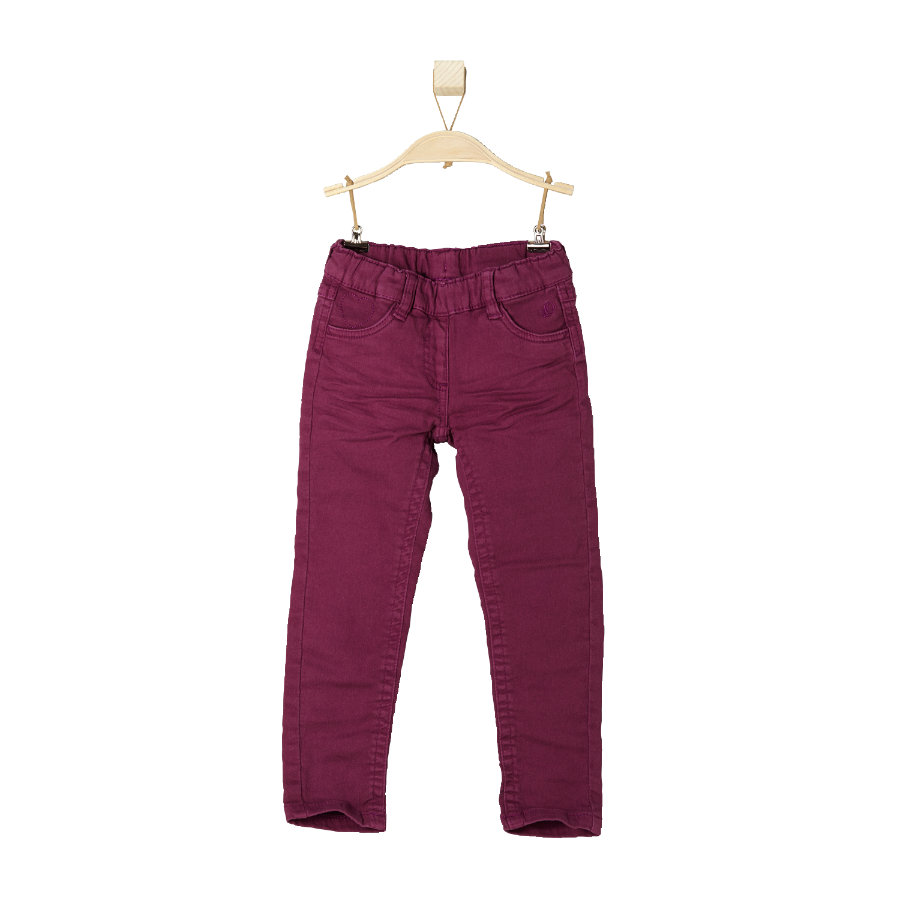 s.OLIVER Girls Mini Spodnie-Jeans bordeaux