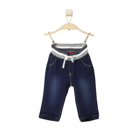 s.OLIVER Boys Mini Spodnie dżinsowe dark blue denim