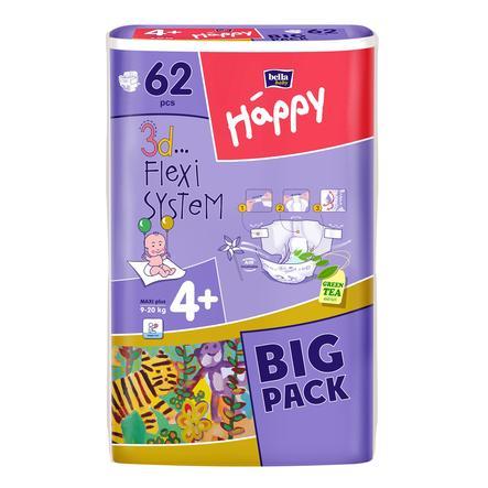 Bella Happy Maxi Gr. 4 Plus Luiers (9-20kg) 62 stuk